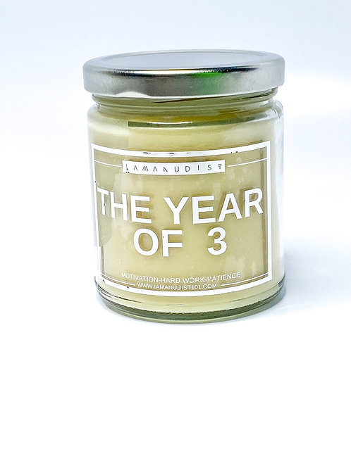 The Year 3 Candle