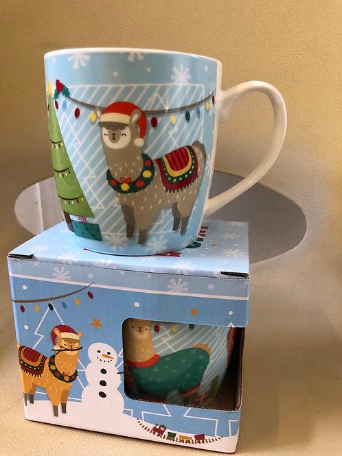 Festive alpaca mug 1 only