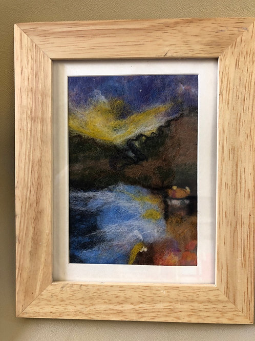 Framed felted picture small