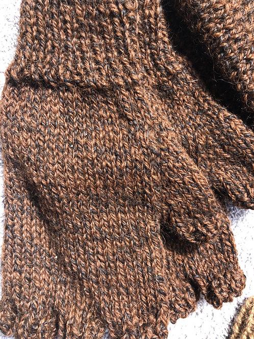 100% alpaca hat and mittens