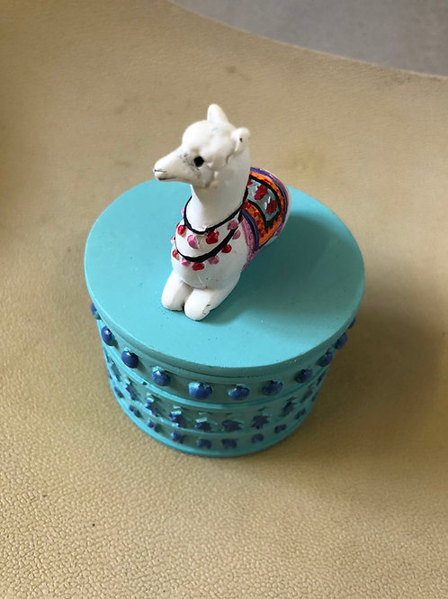 Alpaca trinket box small