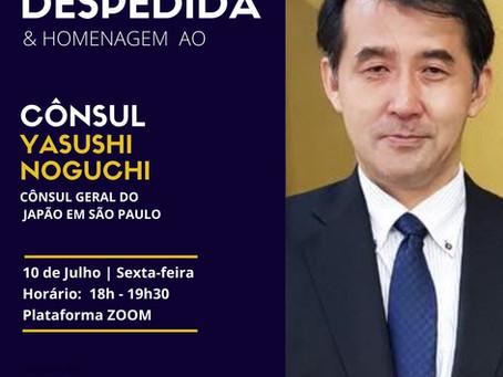 Despedida do cônsul geral Yasushi Noguchi