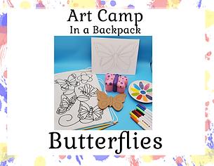 Summer Camp in A backpack - Butterflies.