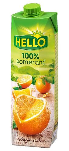 Hello 100% pomeranč 1l