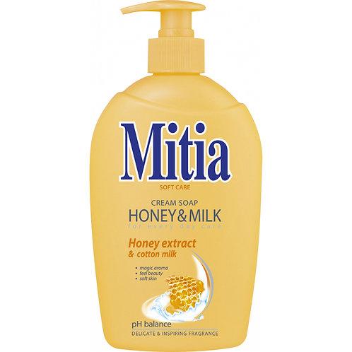 Mitia Honey & Milk tekuté mýdlo, 500 ml