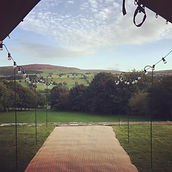 Tipi Hire North Yorkshire  - porch view