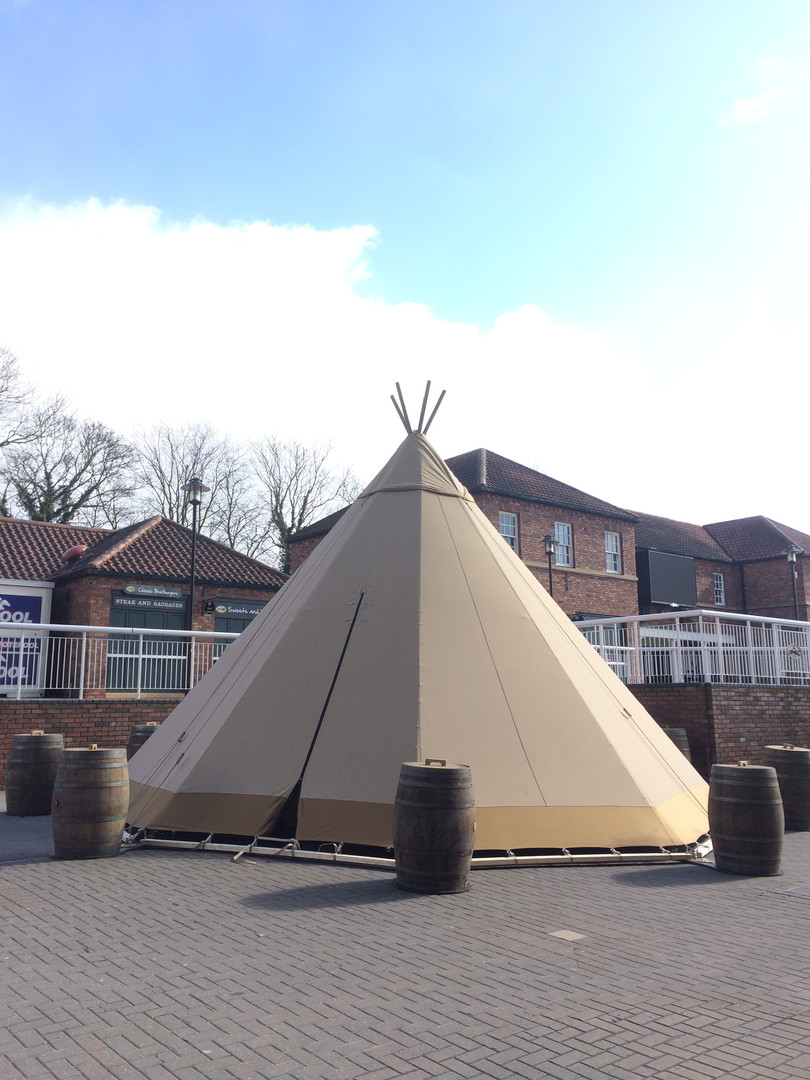 Single Tipi at York Race Course