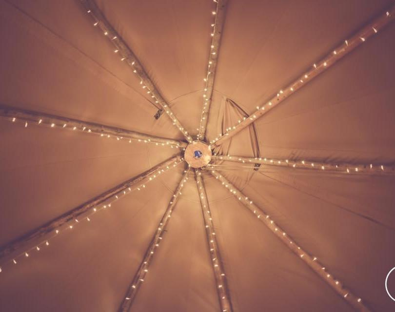 Top of Tipi Fiary Lights
