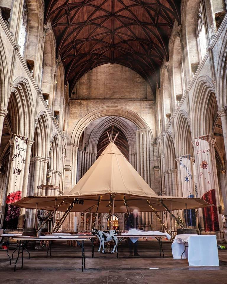Single Tipi inside Ripon Cathedral