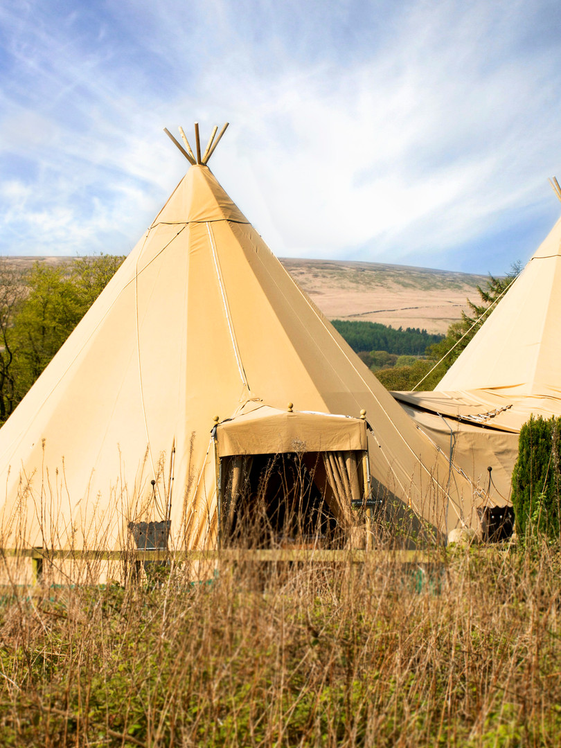 Two Tipi Setup with Front Porch Entrance