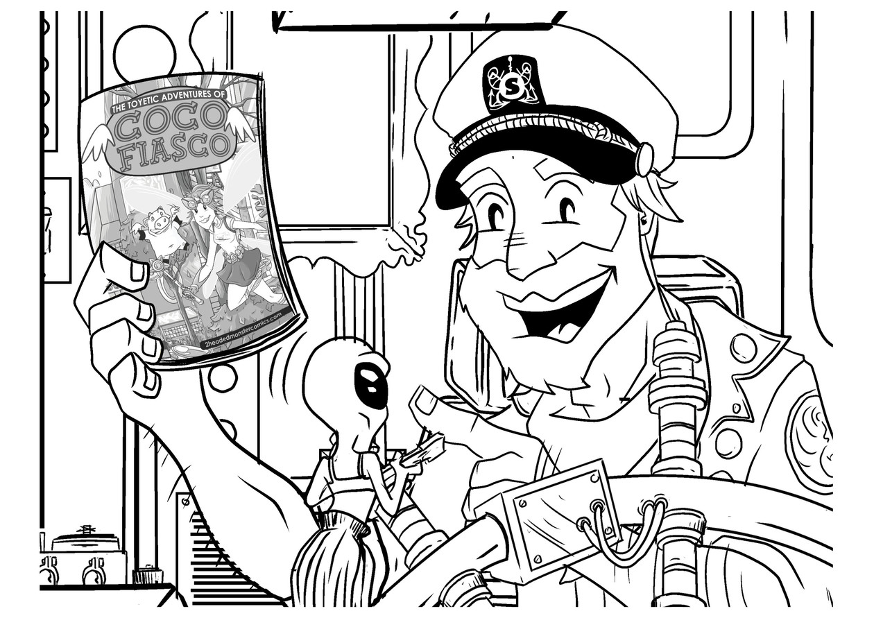 CAPTAIN WITH HIS COMICS