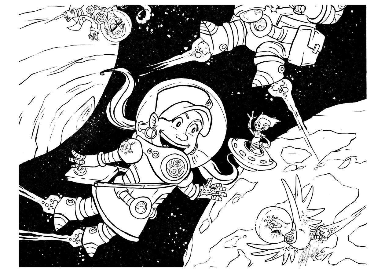 LUNA IN HER SPACE SUIT