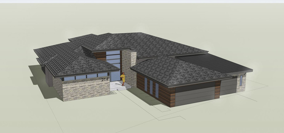 Front Exterior Aerial Render