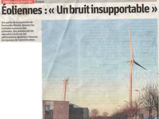 """Éoliennes : """"Un bruit insupportable"""""""