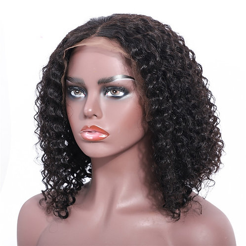 Bob Lace Front Wigs Glueless Curly Human Hair Lace Wigs