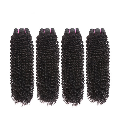 Brazilian Kinky Curly Hair Weaves 4 Bundles/lots