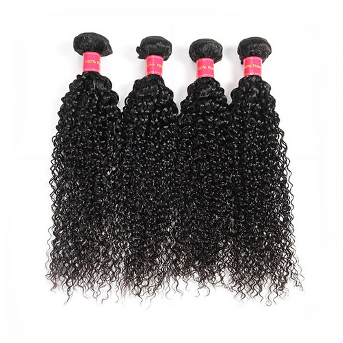 Peruvian Kinky Curly Hair Weaves 4 Bundles/lots