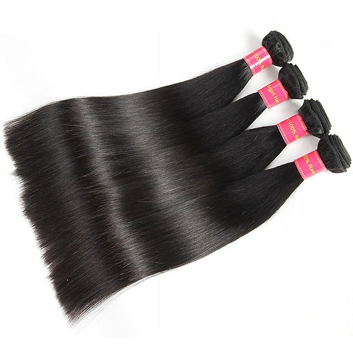 Peruvian Straight Hair Extension, 4 Bundles/lots