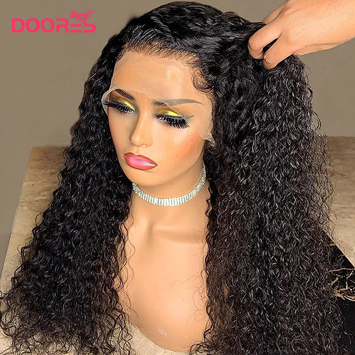 Curly Human Hair Wigs 150  Density Lace Wig  Pixie Lace Wig