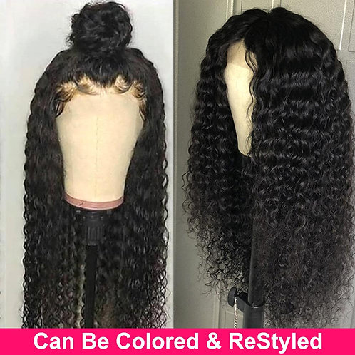 Curly Human Hair Wigs  Frontal Wig 30 Inch Lace Front Wig  Human Hair Wig