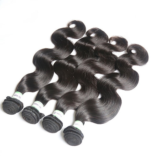 Malaysian Body Wave Hair Extension, 4 Bundles/lots