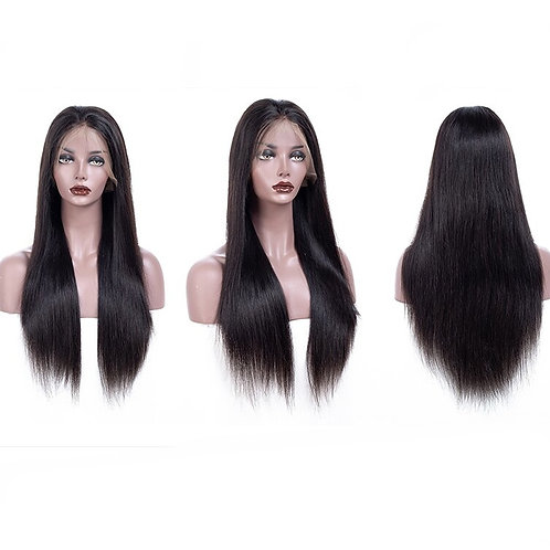 360 Brazilian Straight Lace Frontal Natural Hair Wig