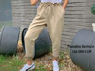 Pantalón facético beige
