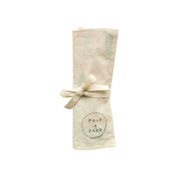 Estuche de algodón orgánico con cubiertos de bambú