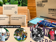Caja Alimentando Sonrisas / Envía un mercado a la causa que quieras