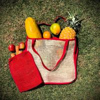 Bolsa de mercado tejida en telar