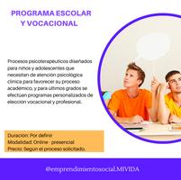 Programa Escolar y de Orientación Vocacional - Profesional