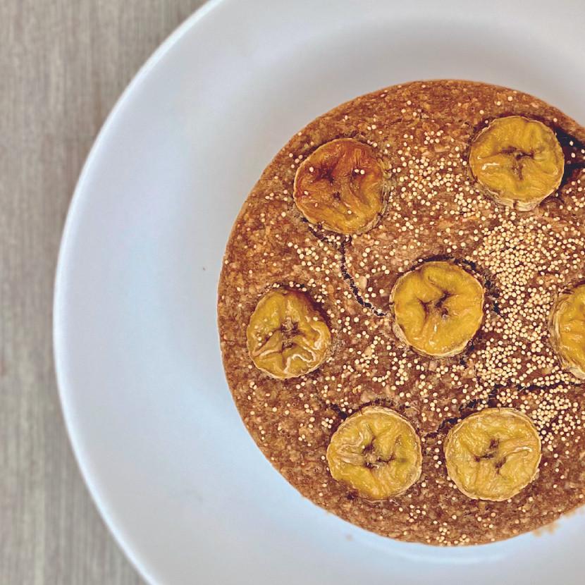 Torta de Banano Vegana