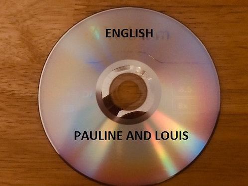 Pauline and Louis DVD. Includes behind the scenes interviews