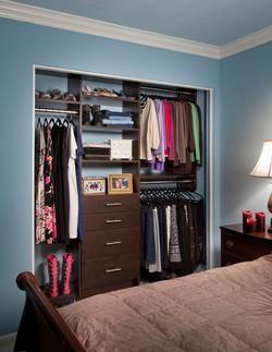 Chocolate Pear Modern Reach In Closet