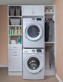 White Raised Panel Laundry Room June 201