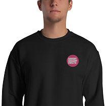 Unisex Sweatshirt w/ Embroidered Pink Logo