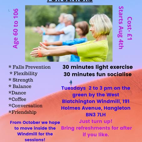 """New """"Exercise & Socialise"""" for Seniors in Hangleton"""