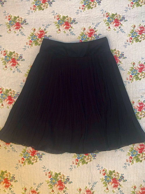 H&M dark navy pleated skirt