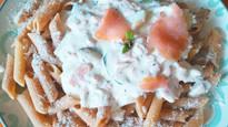 Recette de pâtes à la crème, au saumon et à la menthe 🍴