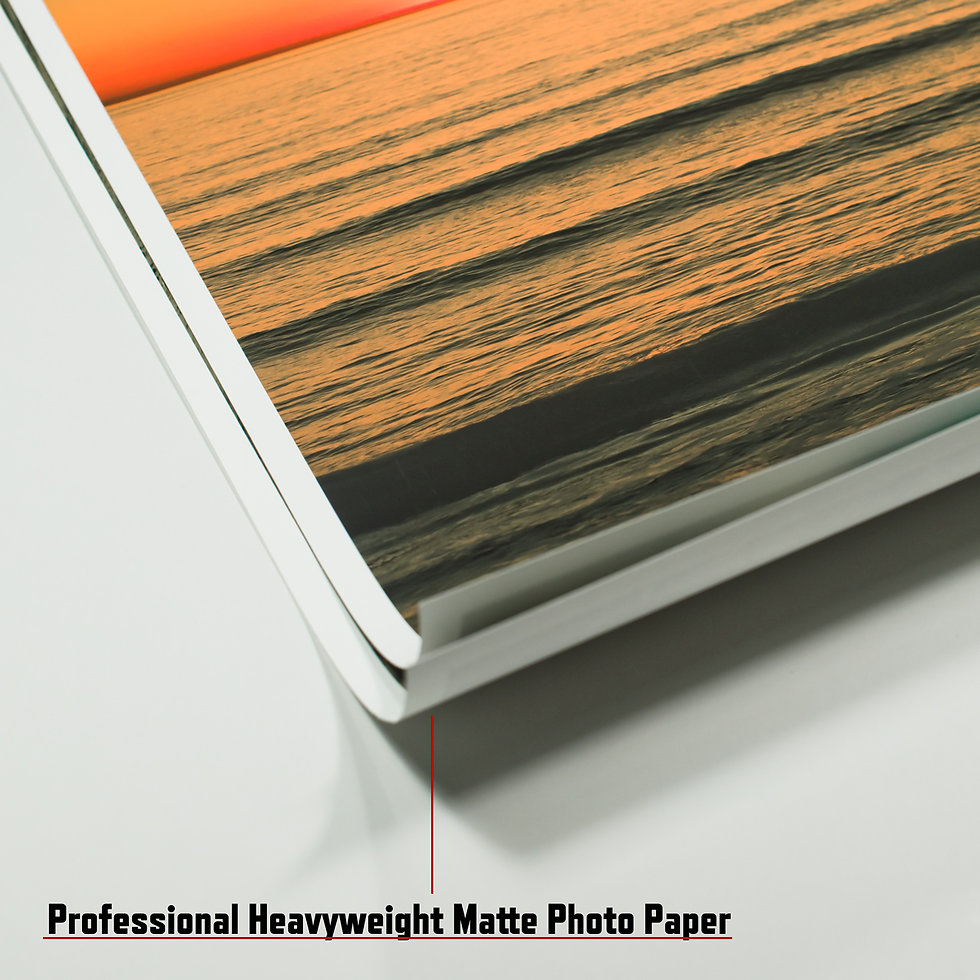 printed on heavyweight matte photo paper