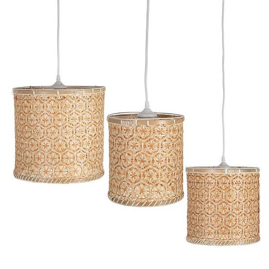 SET 3 LAMPARAS DE TECHO