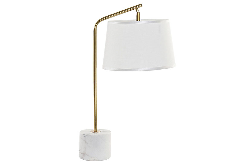 LAMPARA SOBREMESA METAL MARMOL