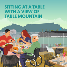 Sitting at a Table with a View of Table Mountain