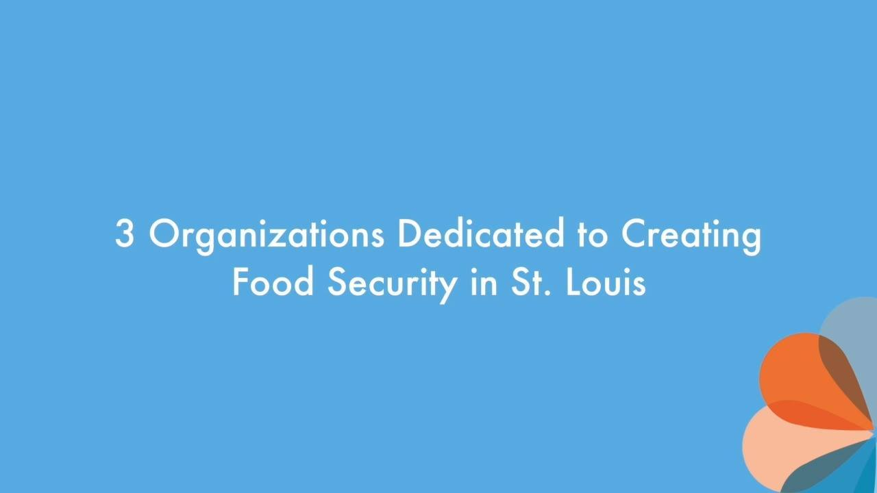 3 Organizations Dedicated to Creating Food Security in St. Louis