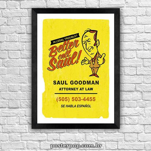 Poster Better Cal Saul Retrô