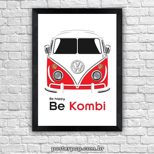 "Poster Kombi ""Be Happy"""