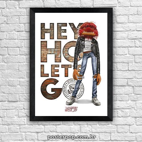 "Poster ""Ramones  - Muppets Rock Animal"""
