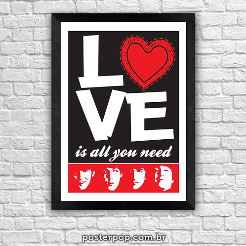 """Poster Beatles """"Love is all you need"""""""