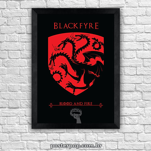 Poster Game Of Thrones - Blackfyre House