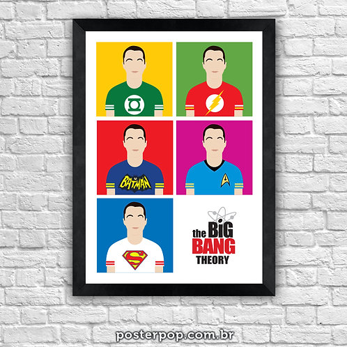 Poster Sheldon Heroes - The Big Bang Theory
